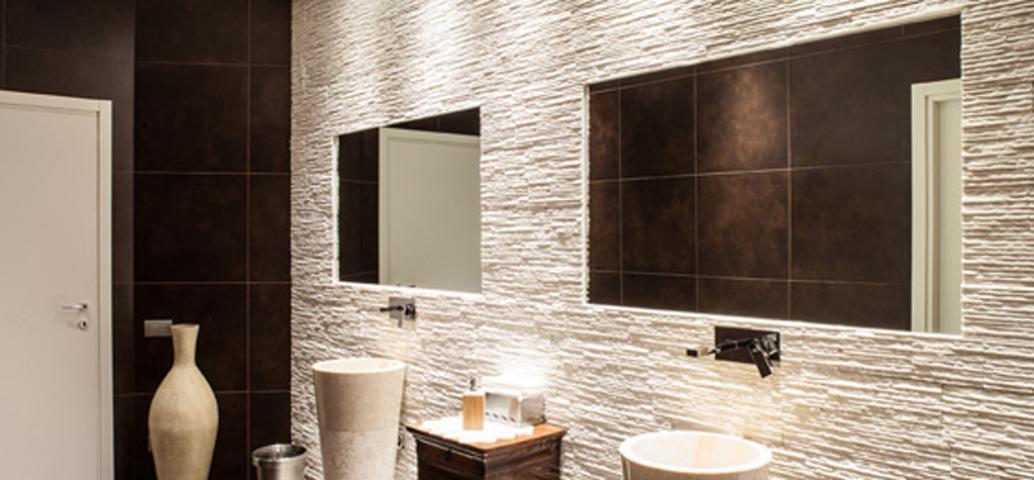 Ambiente bagno belvedere interior glass - Specchio bagno incassato ...